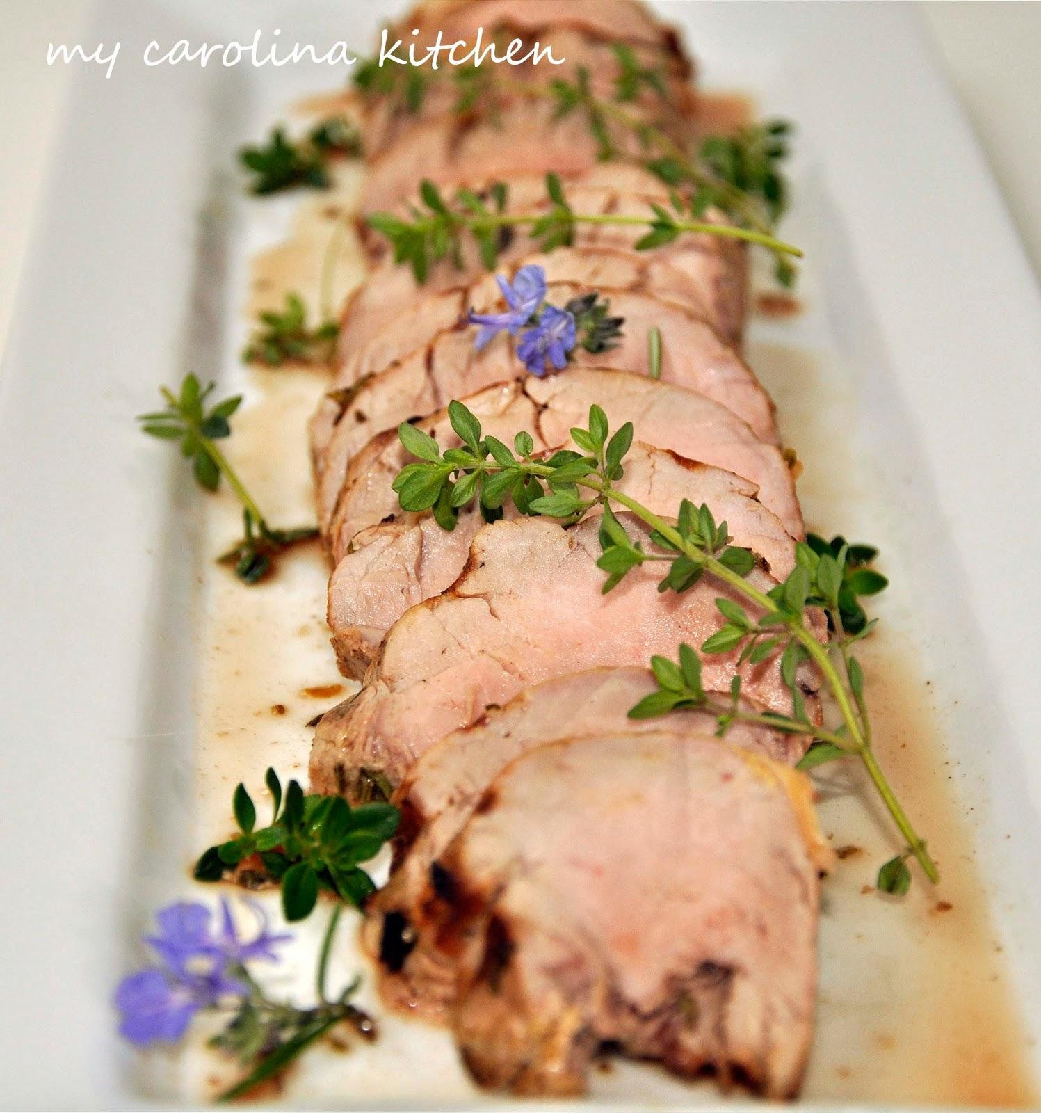 Greek Panzanella my carolina kitchen: herb-marinated pork tenderloin with a greek