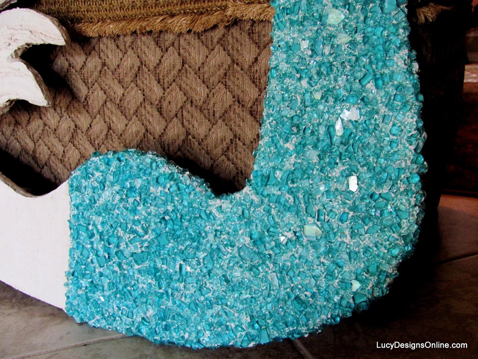 crushed glass mermaid art