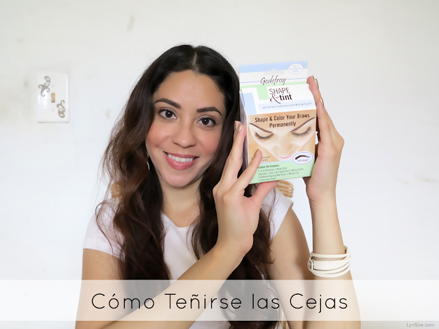 Cómo teñire las cejas en casa, cejas henna, How to Tint Your Eyebrows, at home, How to do Henna Eyebrows, Godefroy eyebrow tint