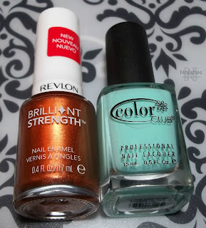 Revlon 'Captivate' and Color Club 'Blue-Ming'