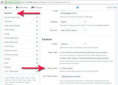cara matikan video otomatis autoplay twitter