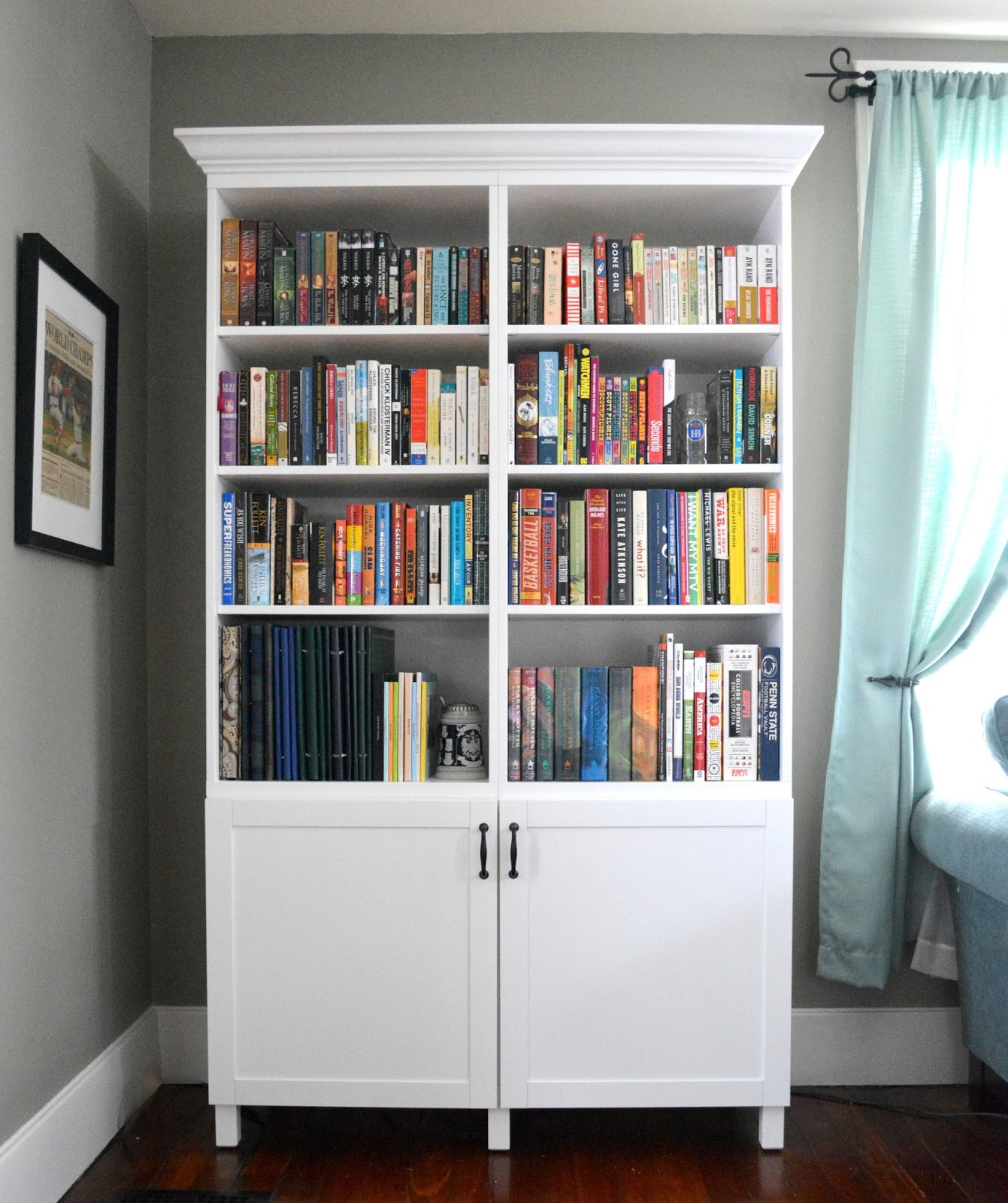 cozy birdhouse | ikea hacking: our customized ikea besta bookshelf