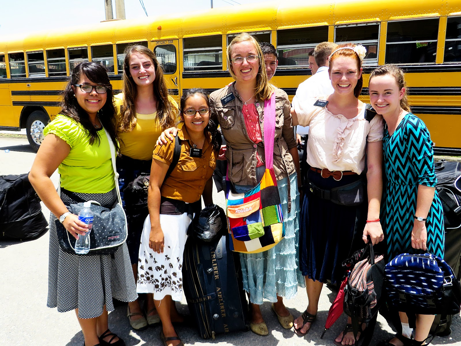 LDS sister missionaries go about doing good!
