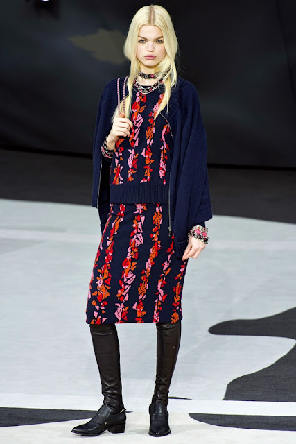 Chanel autumn winter 2013 2014 knit dress and cardigan