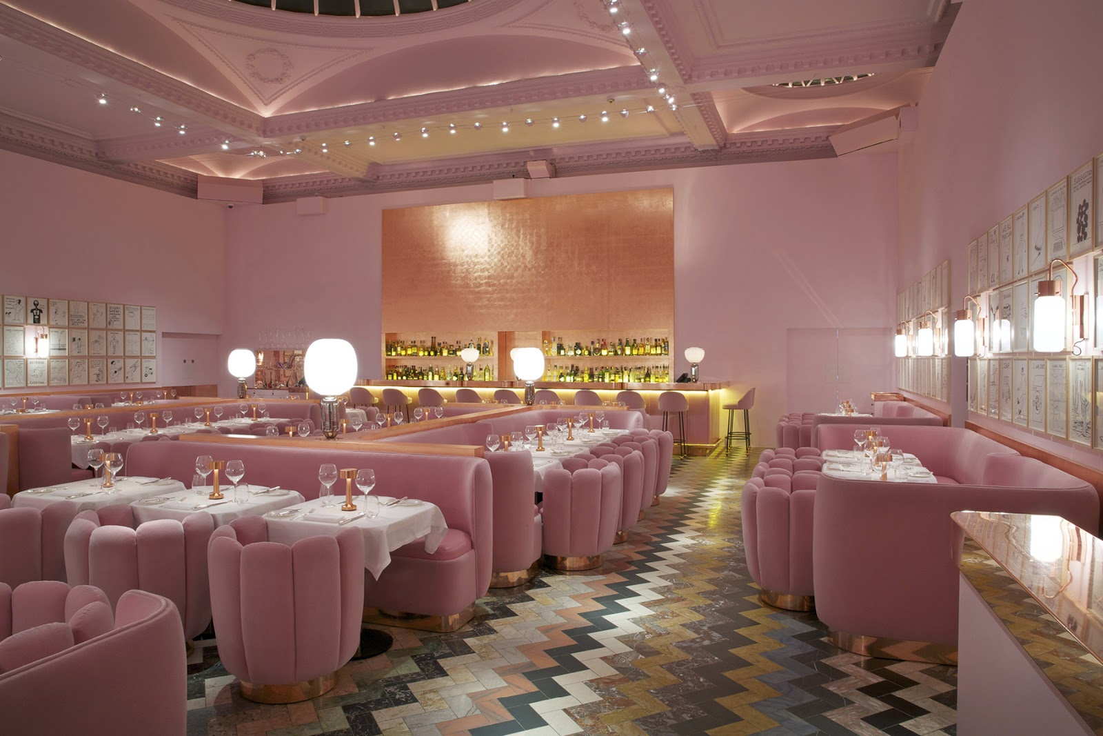 Loveisspeed the name of the rose india mahdavi for Restaurant design london