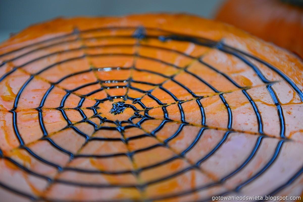 dyniowy sernik na halloween