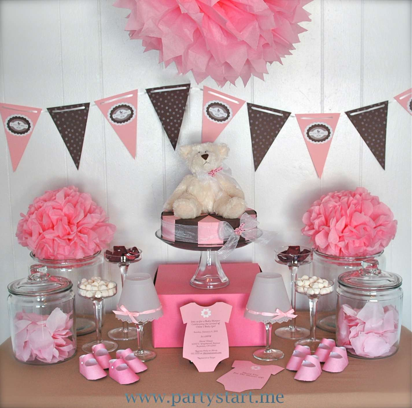 The baby shower fiestas ideas para que el baby shower sea for Baby shower dekoration