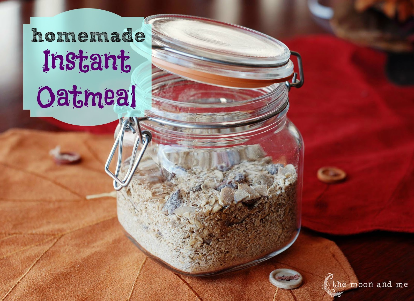 The Moon and Me: Homemade Instant Oatmeal