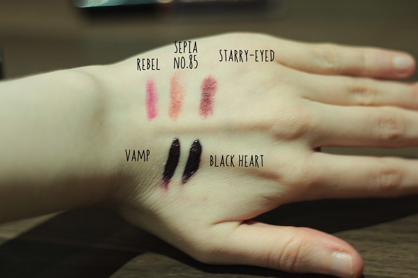 dark lipstick collection swatches uk beauty blogger