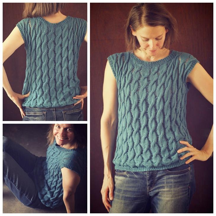 Fire Opal Tee Pattern knit by Mamatronic