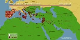 Map of Crusades and Jihads