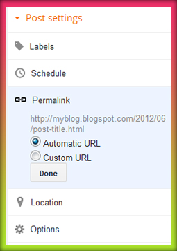 How to Create A Custom Permalinks for Blogger Posts