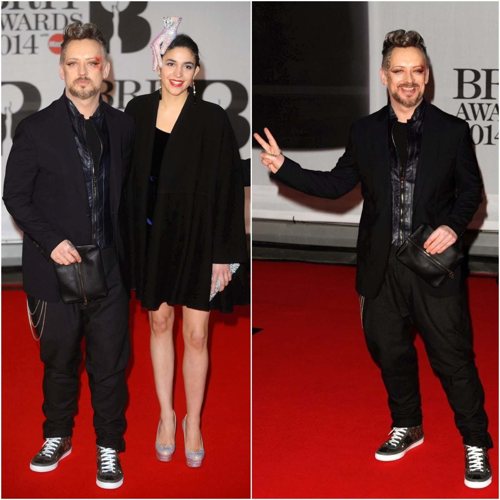 Boy George's Jimmy Choo 'Belgravia' Sneakers - BRIT Awards 2014