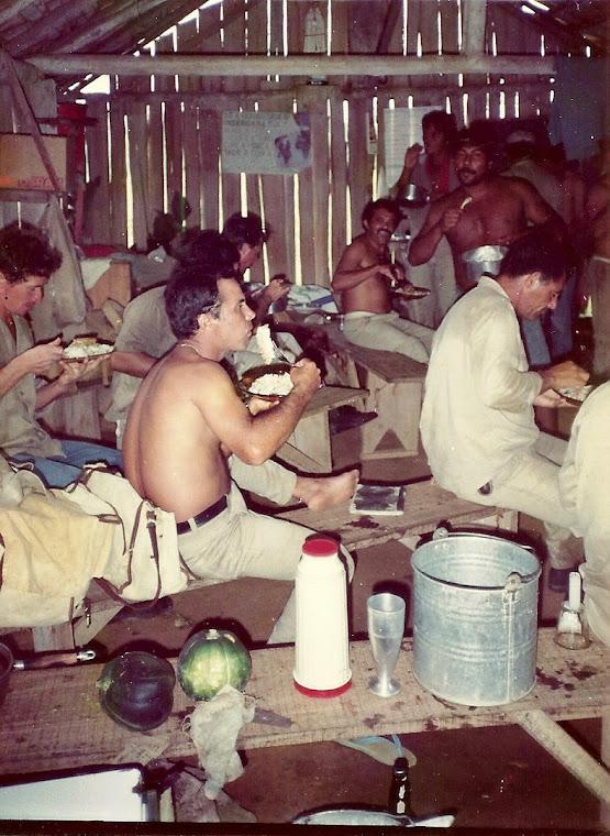Acampamentos dos soldados da malaria