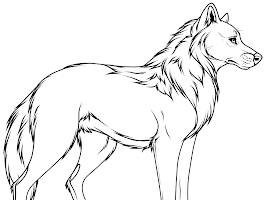 Sitting Dog Coloring Pages