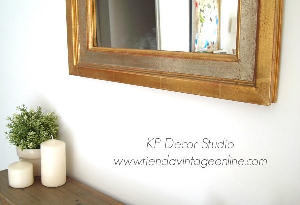 Comprar espejo vintage de madera dorado con pan de oro