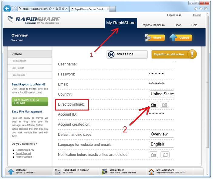 Rapidshare Direct Download Site