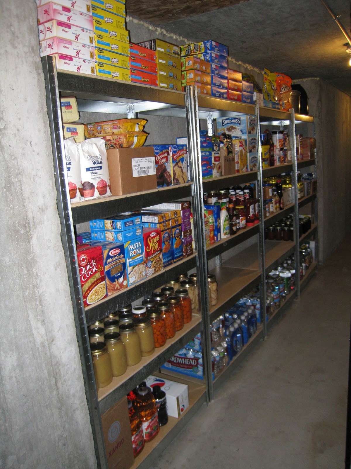 Cooking With My Food Storage Where Do I Put My Food Storage? Eu0027s Organized Food Storage : storage room organization  - Aquiesqueretaro.Com