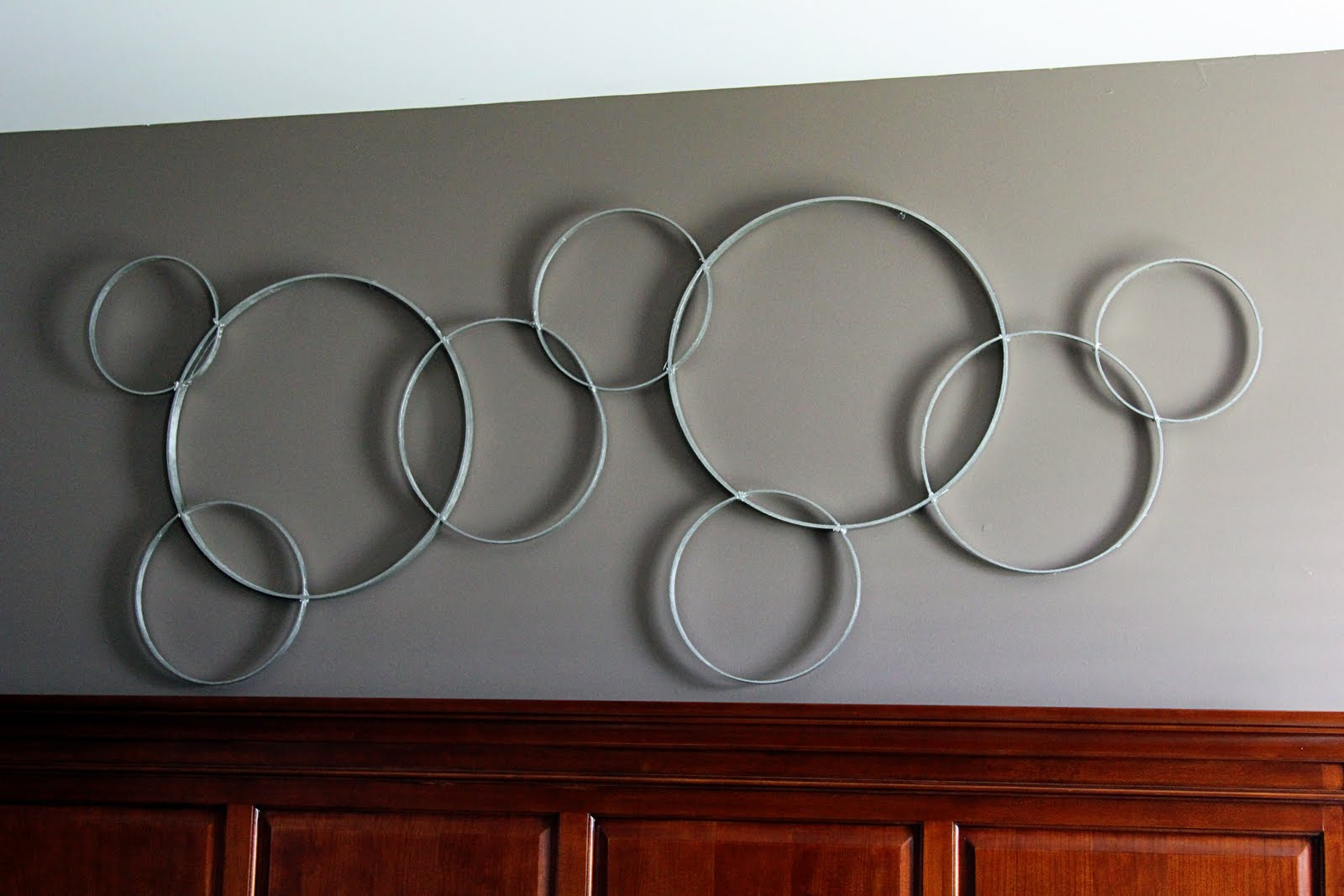 Circle Wall Art simply sarah: pottery barn circles votive holder knock off