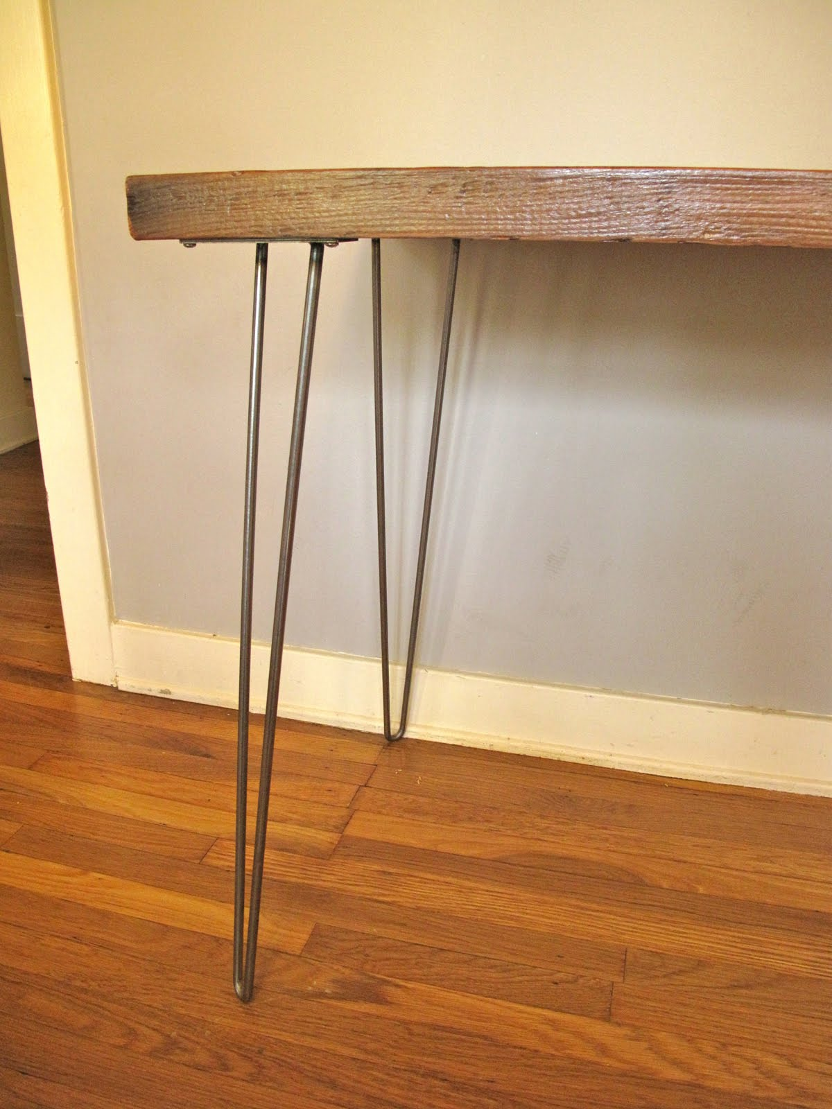 Arbor Exchange Reclaimed Wood Furniture Desk Hairpin Legs