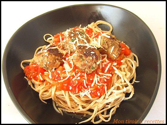 sauce tomate boulettes boeuf