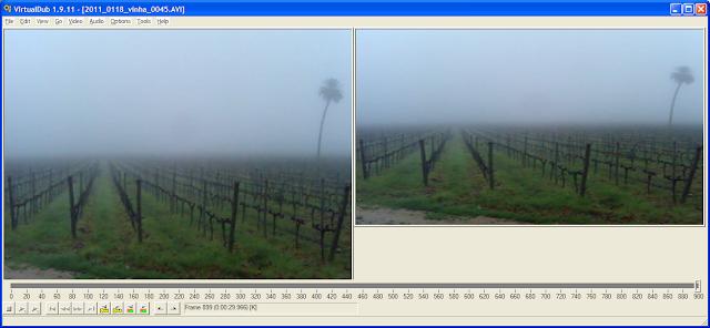 VirtualDub - Interface com video 16x9 (à direita)