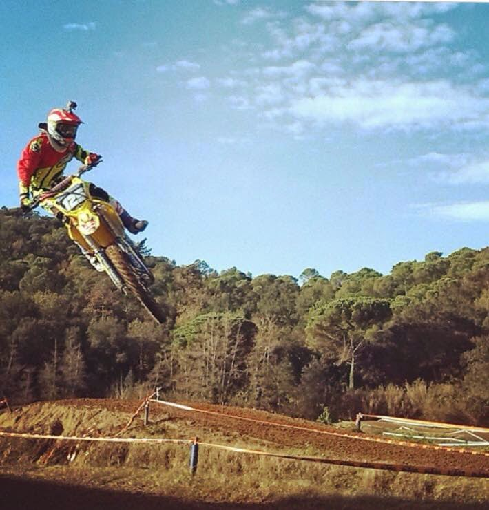 Maverick Viñales practicando motocross