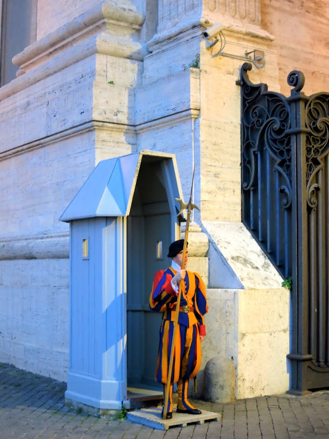 A Swiss Guard in Vatican City