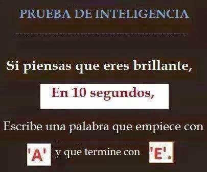 Prueba De Inteligencia