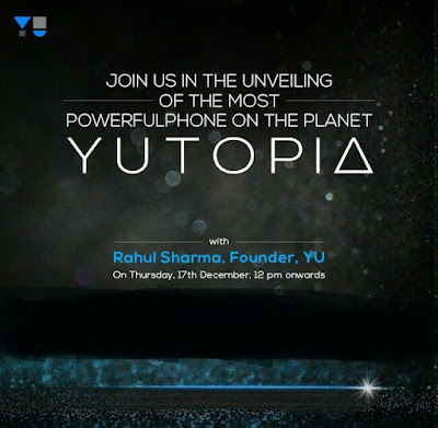 YU Yutopia Launch - 17th December, 2015: Live Coverage Blog