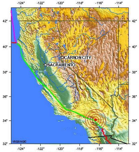 southern California usa earthquake 2012 june 26
