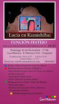 LUCÍA EN KAMISHIBAI. función festejo por las distinsiones recibidas en 2014!!!