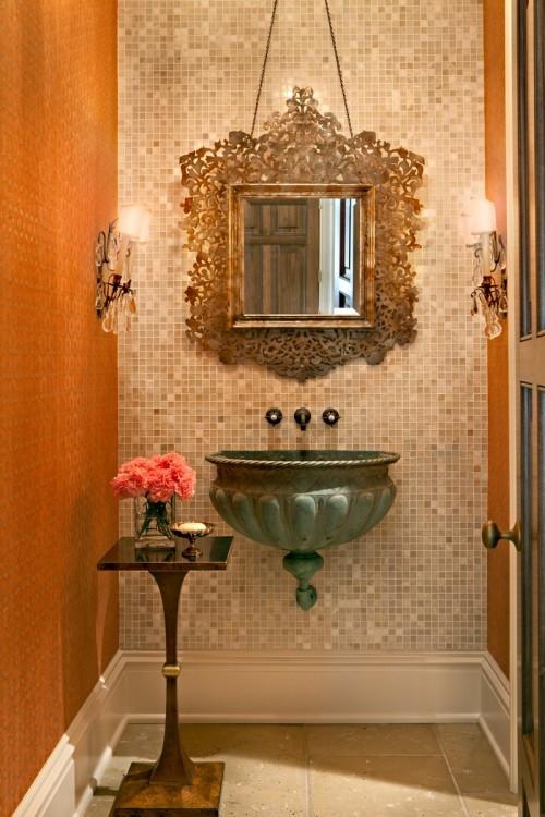 30 ideias para decorar o lavabo integrado cores da casa