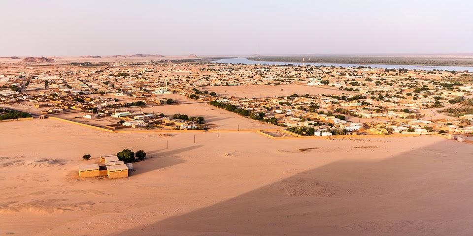 Kerima látképe a Nílussal