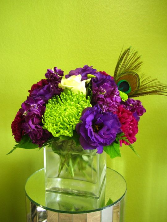 Peacock Feather Wedding Centerpieces