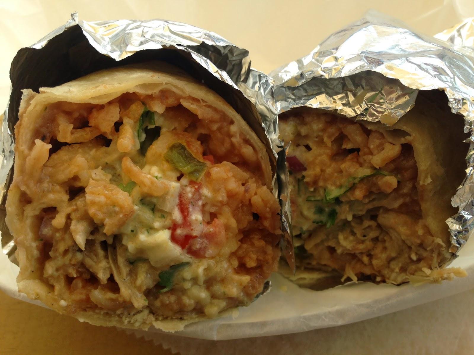 Los Tacos Hermanos Food Truck Carnitas Burrito