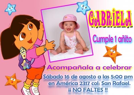 Invitaciones de Cumpleaños con diseño de Dora La Exploradora ...