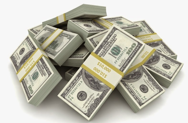 Bathing in money