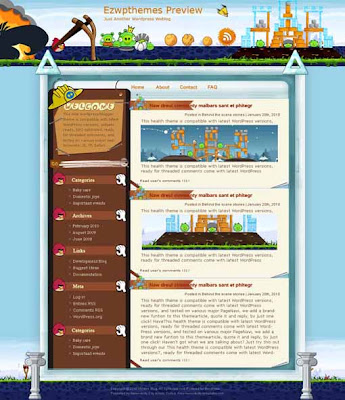Angry Birds blogger template. converted WordPress to Blogger template. business template for blog. blog template tech