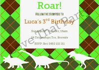 dinosaur birthday party invitation printable personalised