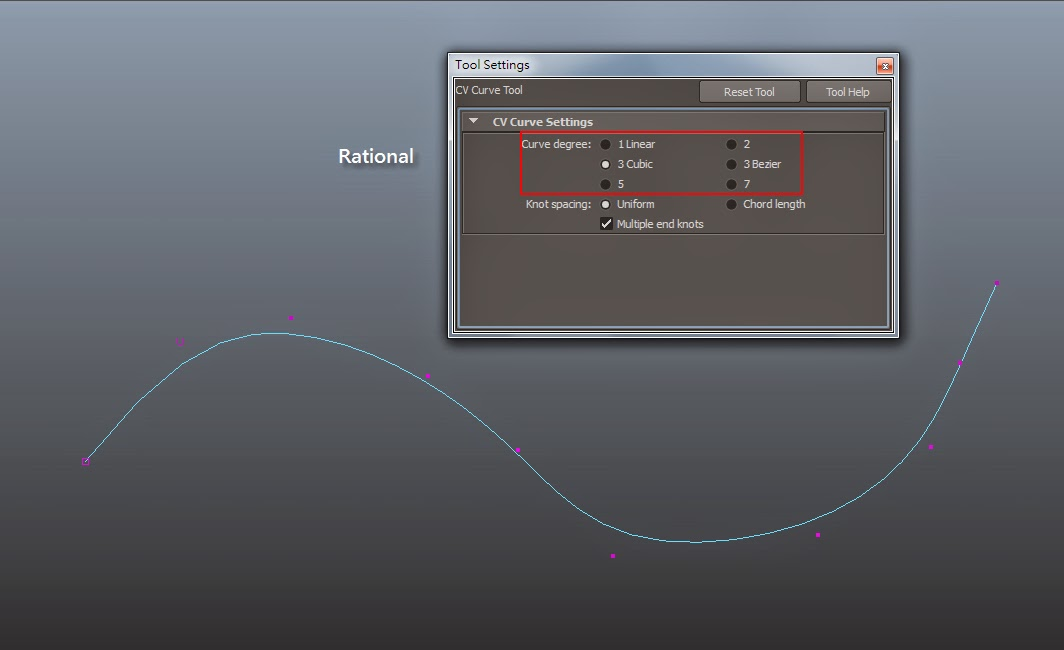 Modifying Curve Components in Maya 03