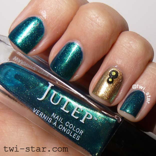 twi-star | Nail Art Blog: Julep Waleska and Harlow - green and gold ...