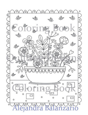 Coloring book, Quilting Designs