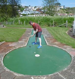 Crazy Golf course in Goodrington Park at Goodrington Sands, Paignton, Devon