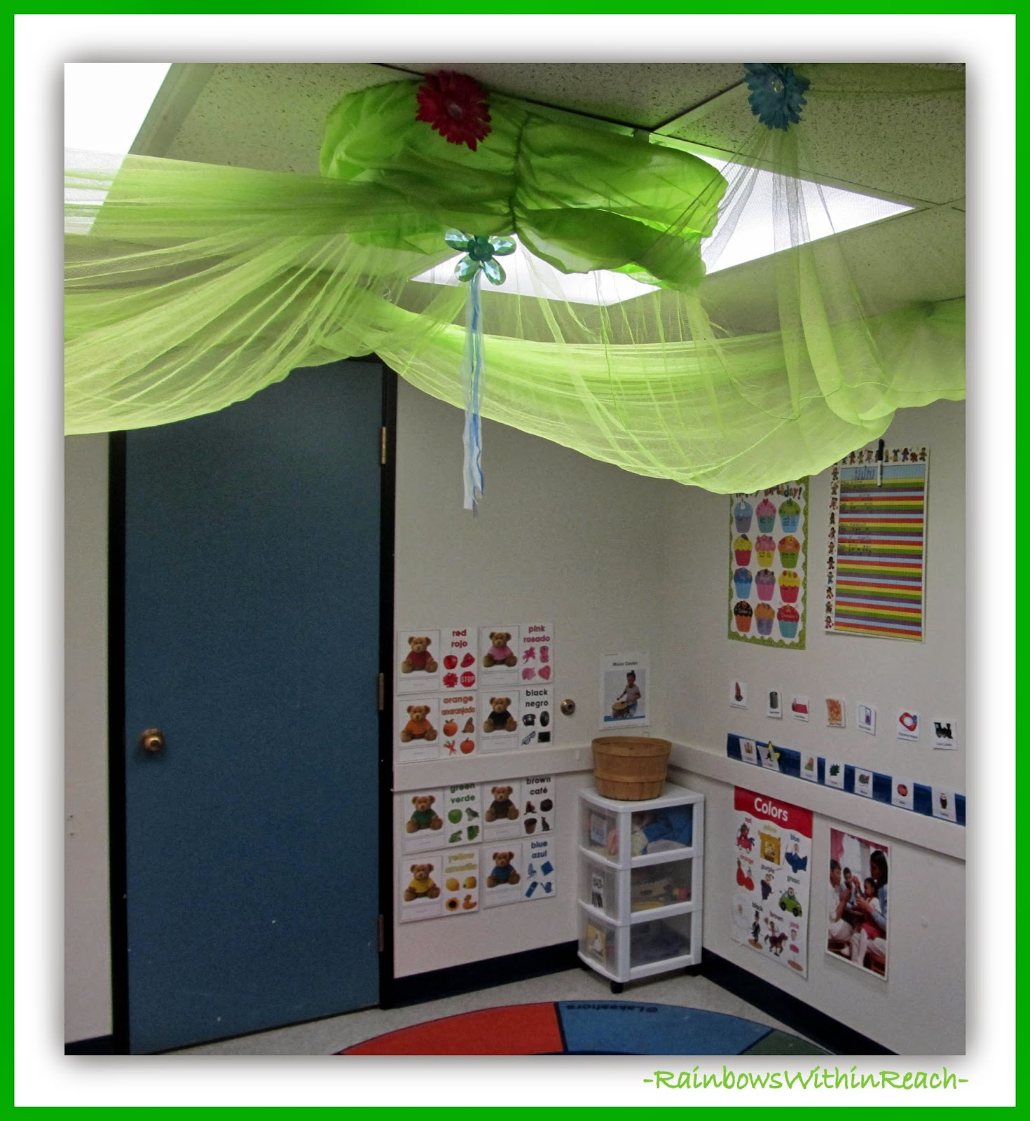 Reading Corner in Preschool Setting via RainbowsWithinReach