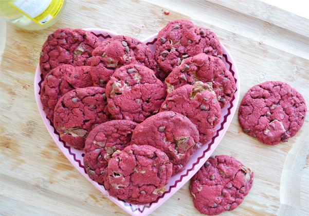 Red Velvet Milky Way Cake Cookies Recipe — Dishmaps