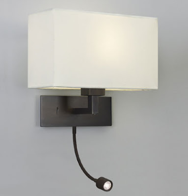 The AX0540 Park Lane Wall Lamp with LED Spotlight in a Bronze finish