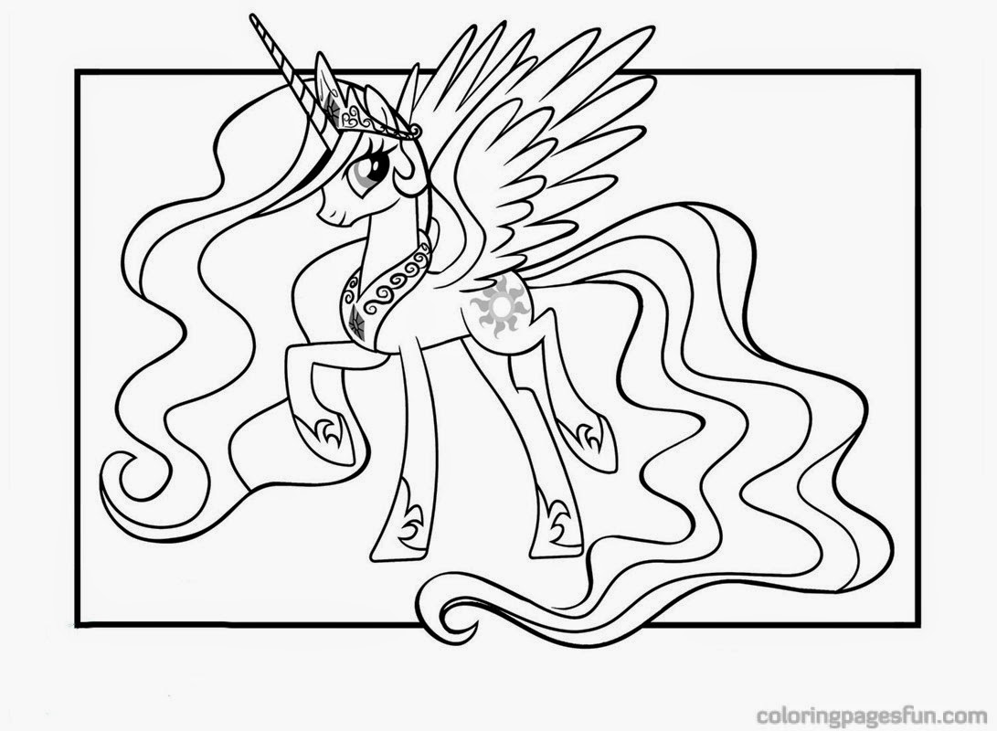 Coloring Pages Princess Pony : My little pony princess celestia coloring pages for kids