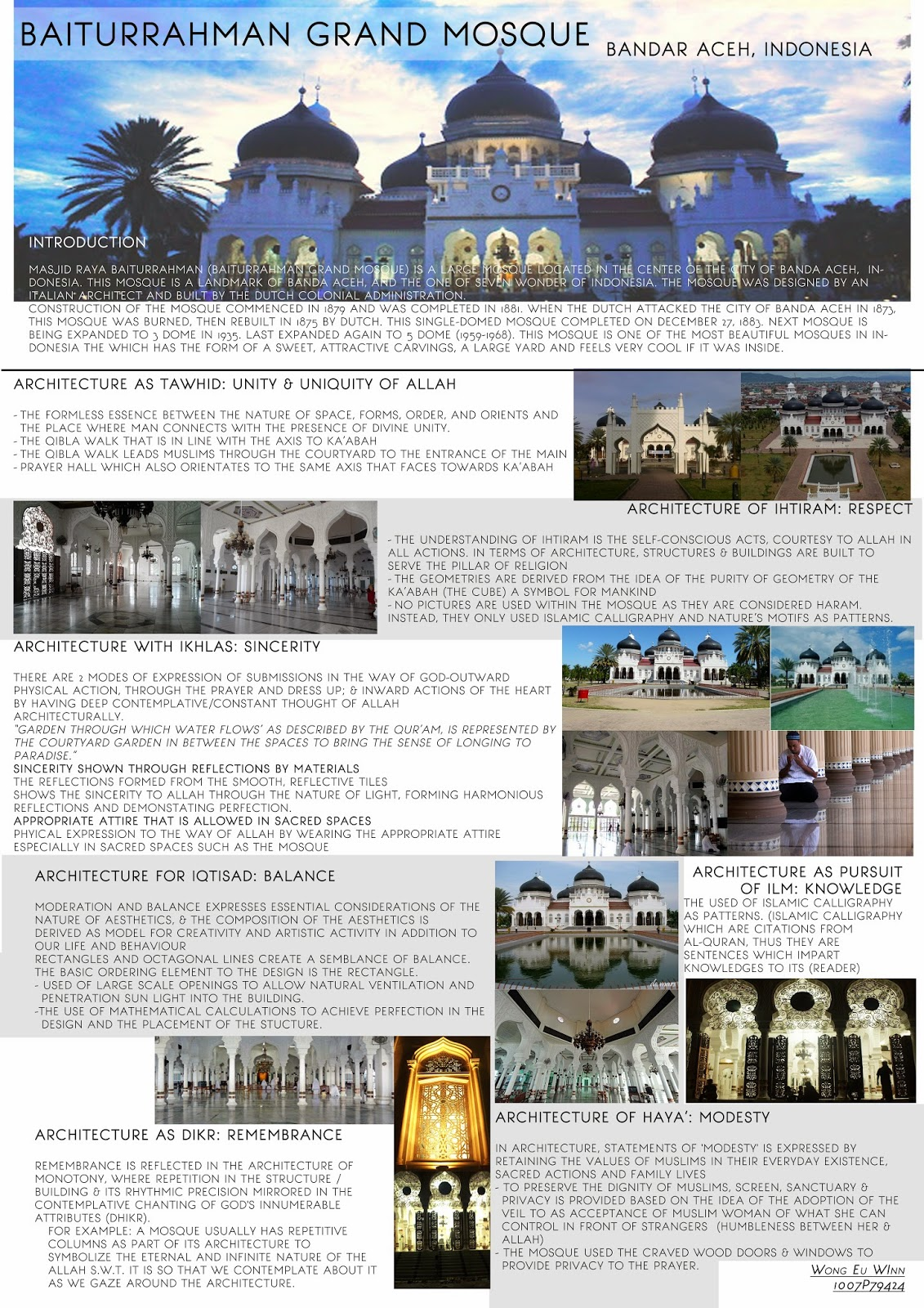 project 1 timeline individual participation islamic architecture