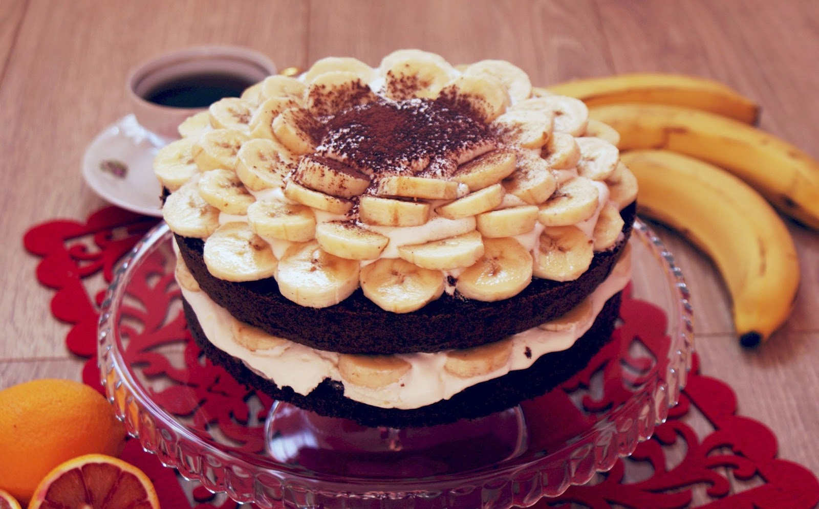 Tort z bananami